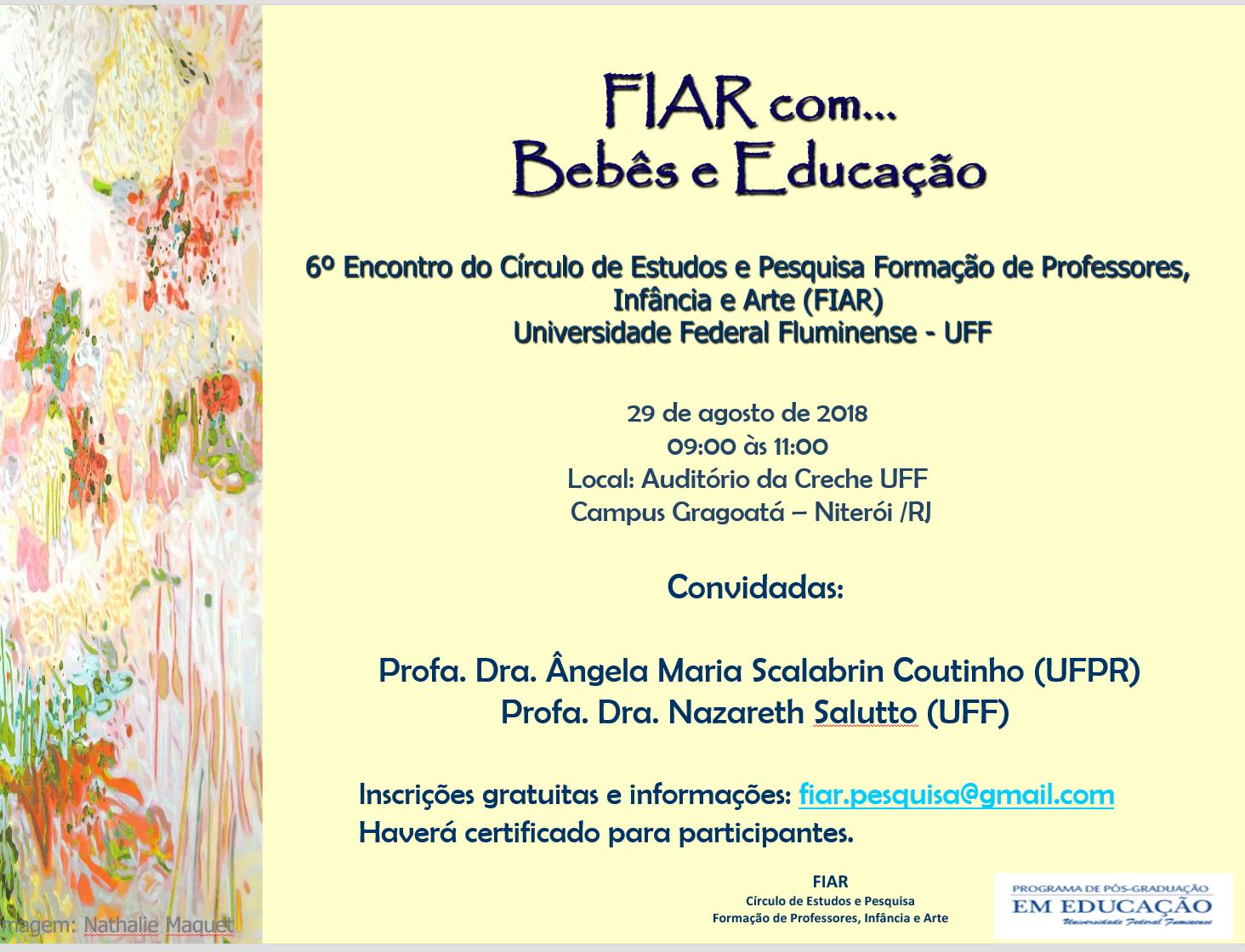 FIAR com... bebês e educação